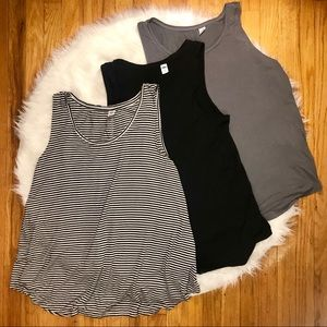 Bundle of 3 Old Navy Luxe Swing Tanks XL Black